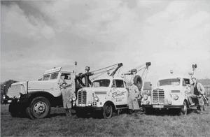 Bergungsflotte der Reparaturwerkstatt von Alfred Schneider
